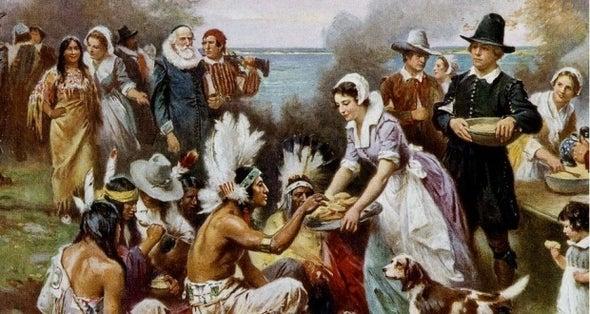 """感恩节与美国土著""""野蛮人""""的神话"""