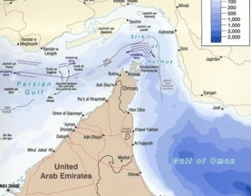 How deep is the Strait of Hormuz?