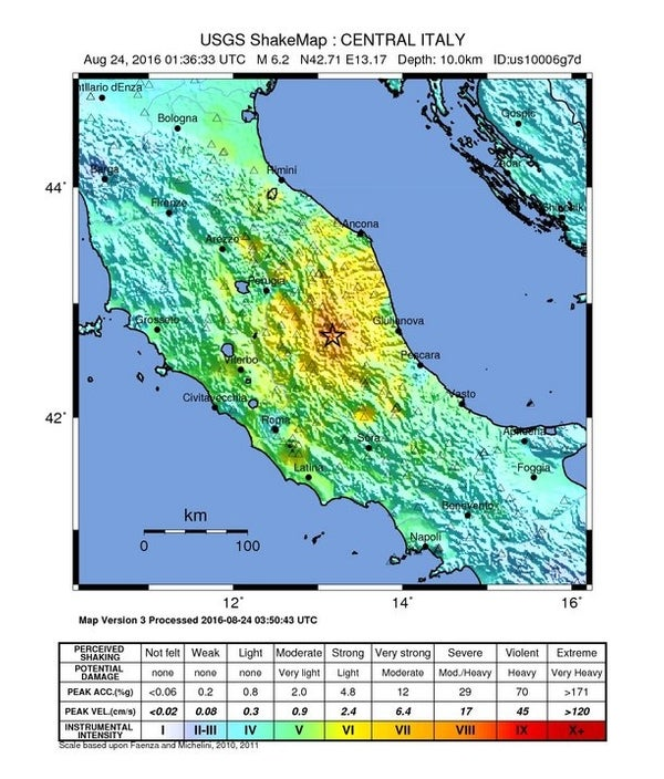 Tectonic Tragedy in Italy