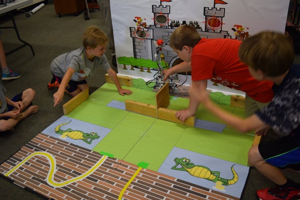 Storming Castles and Forming Friendships with Catapults, Robotics and Code