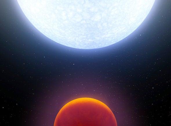 A Hot Polar Planet