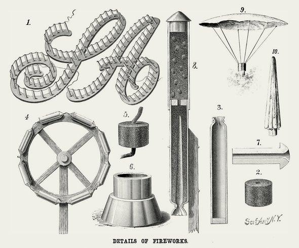 Aerial Fireworks, Illustrated