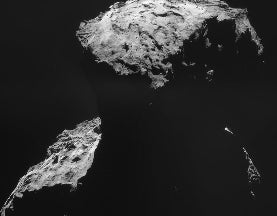 The Surreal Task of Landing on a Comet
