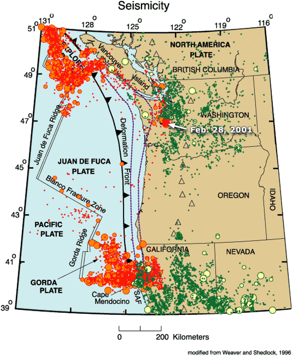 Intriguing Seismic Activity along the Cascadia Subduction Zone ... on