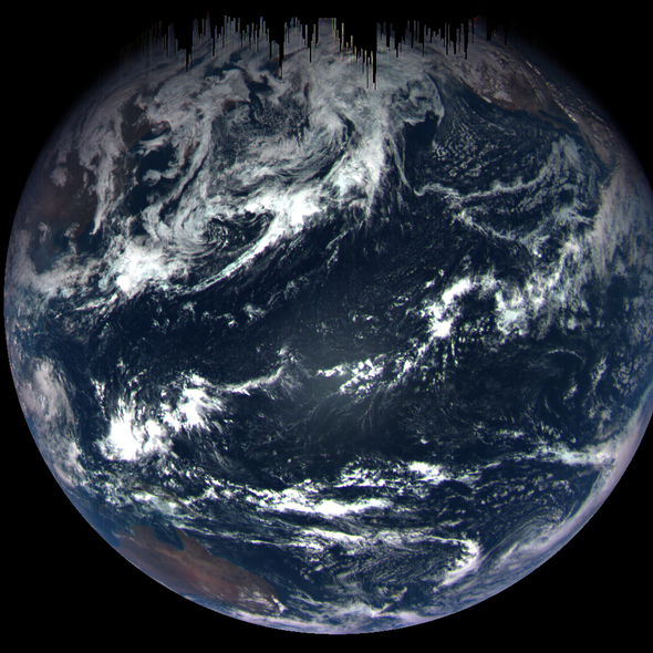 Spacecraft Flies By a Habitable Planet
