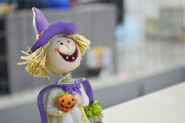 How did purple become a Halloween color?