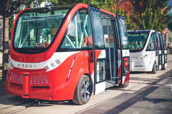 Driverless, Electric Shuttles Now Operating in Lyon, France