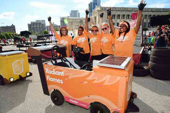 Turning a Refrigerator into a Solar Powered Race Car