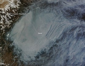 Haze in the Sichuan Basin, as seen from space