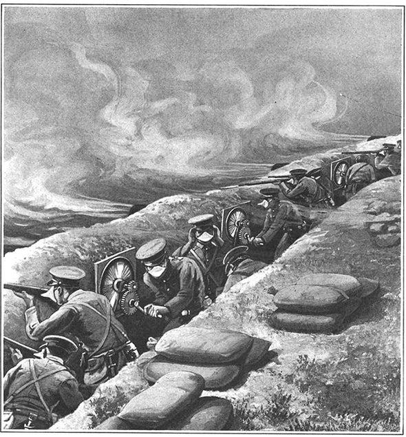 Facing Poison Gas, 1915