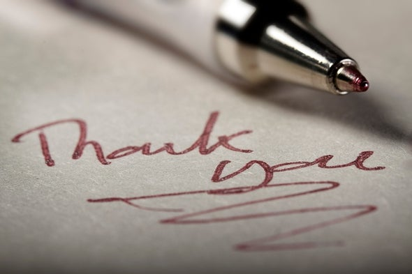 The Psychology of Giving Thanks
