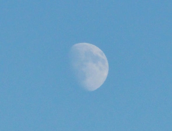 Moon over Mount Saint Helens