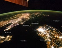 From space, North Korea is a sea of darkness
