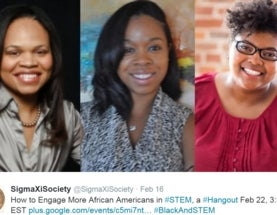 How to Engage More African-Americans in STEM Google Hangouts with Sigma Xi Feb 22, 2016