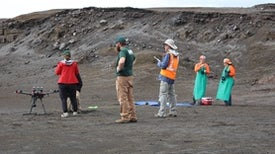 Sampling Kilauea's Infant Crater Lake