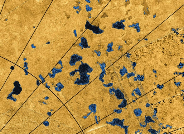 Dissolving Surface May Form Titan's Lakes