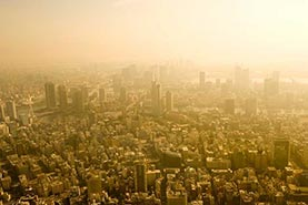 hot cityscape