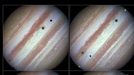 Las lunas ascienden sobre Júpiter