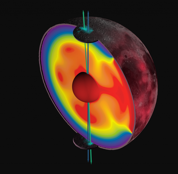 El hielo en la Luna demuestra que sus polos se han movido