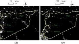 Imágenes de satélite revelan cómo se esparce la oscuridad –y la crisis– sobre Siria