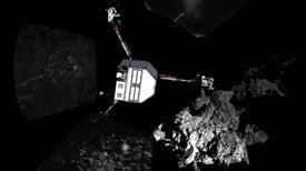 Philae está atascado en un acantilado con poca luz