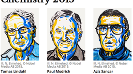 El descubrimiento de los métodos de reparación del ADN gana el Premio Nobel de Química 2015