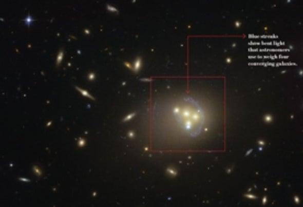 Las partículas de la materia oscura interactúan entre sí
