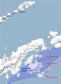 Mapa sitios de excavación en Antártica