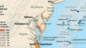 La costa este de Estados Unidos es extremadamente vulnerable a inundaciones por huracanes