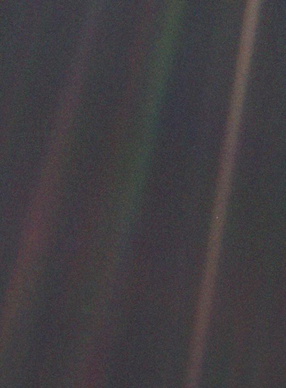 """La Tierra vista como """"un punto azul pálido"""", 25 años ..."""