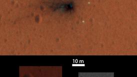 Nuevas fotos a color revelan detalles del impacto del módulo Schiaparelli en Marte