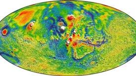 NASA publica nuevo mapa de la gravedad de Marte