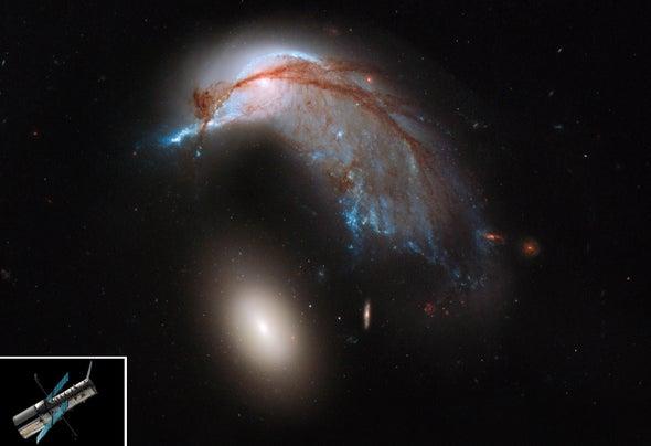 El Hubble recuerda su imagen del 'pingüino y el huevo' en su aniversario