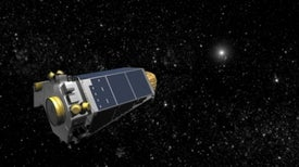 Nave espacial Kepler en estado de emergencia