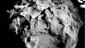 Primer plano de un cometa
