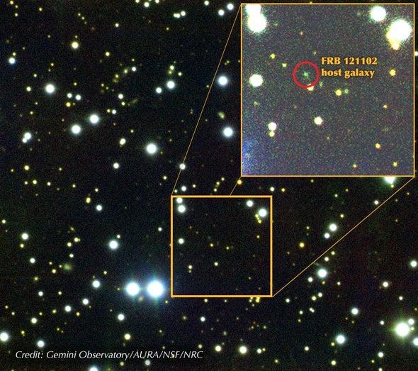 La recién encontrada fuente de misteriosas explosiones cósmicas plantea enigmas más profundos