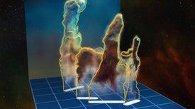 Los Pilares de la Creación, en 3D