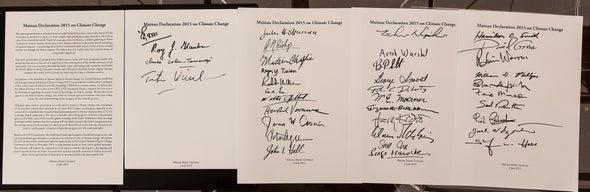 Premios Nobel llaman a tomar acciones urgentes contra el cambio climático