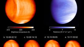 Detectan una misteriosa y estática onda gigante en la atmósfera de Venus