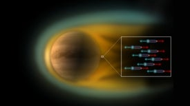Descubren un intenso campo eléctrico en Venus