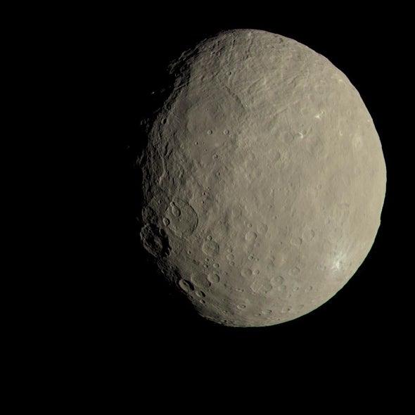 El planeta enano Ceres alberga compuestos precursores de la vida