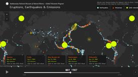 Nueva aplicación resume visualmente 50 años de eventos geológicos de la Tierra