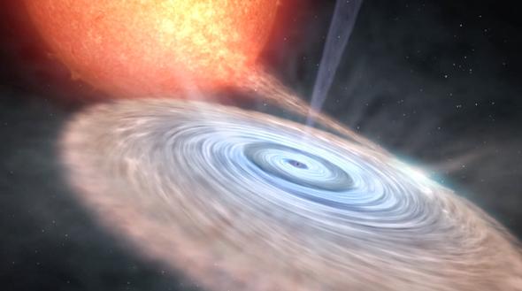 Descubren un intenso viento en las inmediaciones de un agujero negro