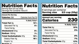 Etiquetas de alimentos mostrarán más claro las calorías por porción