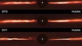 Insólitas ondas recorren un disco de formación de planetas