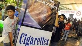 Advertencias en paquetes de cigarrillos son más efectivas si incluyen fotos