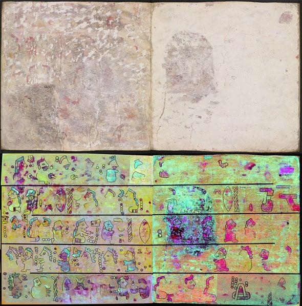 Científicos revelan páginas ocultas de libro mexicano precolombino