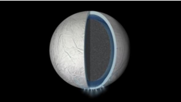 Cassini confirma la presencia de un océano global en la luna Encélado de Saturno