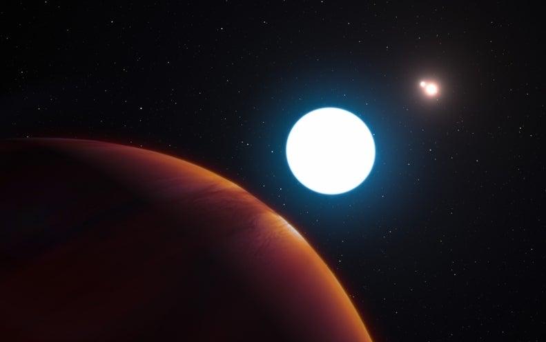 Descubren un extraño planeta con tres soles
