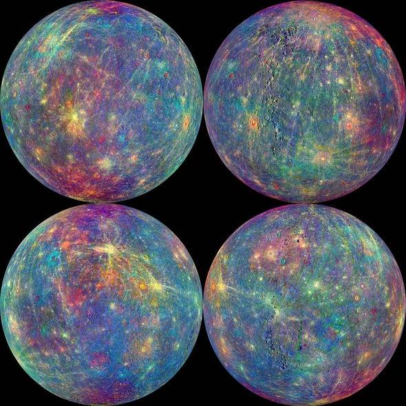 Una detallada imagen de Mercurio para despedir a MESSENGER